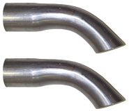 65-66 Tail Pipe Turn Down Tips  2 Stk