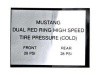 65-66 Red Line Tire Aufkleber